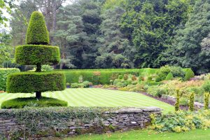 Topiary and lawned garden