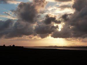 Sunset near Port Carlisle