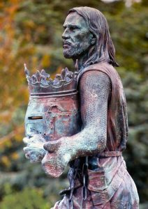 Edward I statue at Burgh by Sands