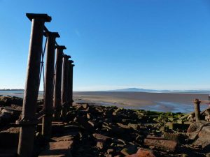 Remains of the Solway viaduct