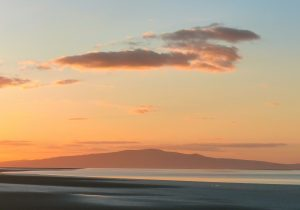 Criffel in Scotland from the Cumbrian Solway coast