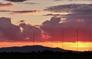 Anthorn masts and views of Criffel