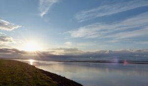 A tranquil evening on the Solway coast