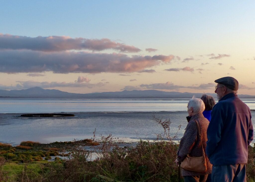 The sun starts to set on the Dumfries and Galloway coast on a Solwayconnections guided tour